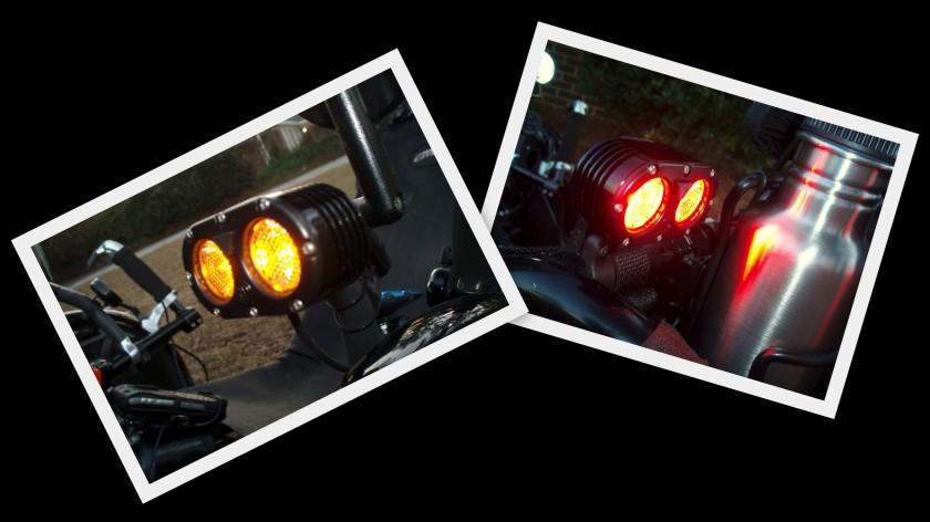 Front & Rear DiNotte 400 Lumen Lights