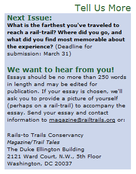 Rails to Trails Essay