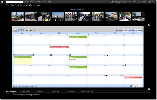 cycling calendar