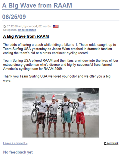 Team Surfing Story