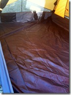These pictures were taken with my iPhone because my SLR wide-angle lens is not working. The pictures give you an idea how the inside of the tent looks. & Cycling Experiences...Pictures inside my Eureka Apex 2XT Tent