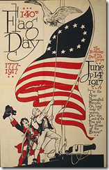 Poster commemorating the 140th Flag Day on 14 June 1917