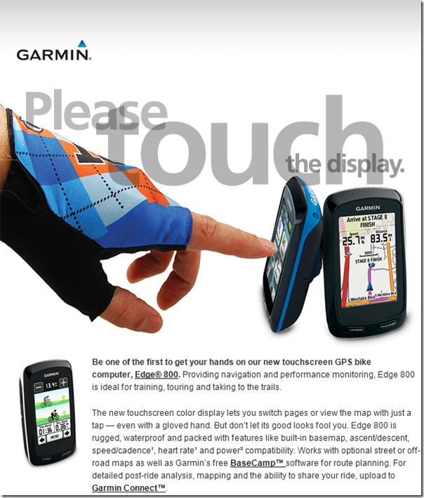 Garmin Edge 800 Ad