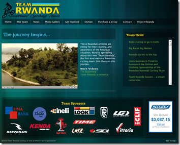 Team Rwanda Cycling Website