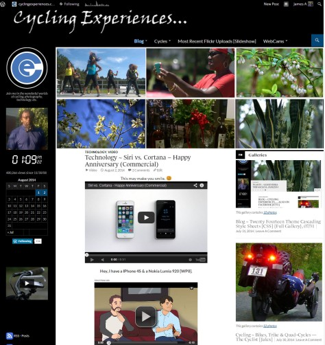 Cycling Experiences... Blog with Twentyt Fourteen Theme 99=Percent Finished