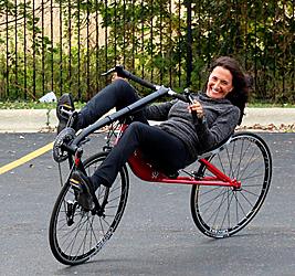 Maria Parker rides the new Vendetta v20