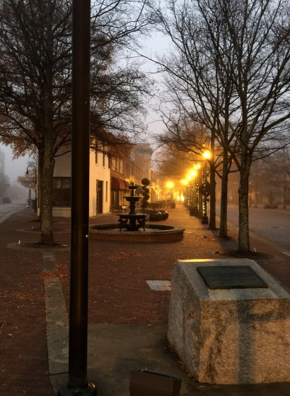 Old & Hay Street [Entry point into Olde Fayetteville Commons, June 1, 1985]-