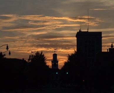 Sunset, Downtown Fayetteville, North Carolina
