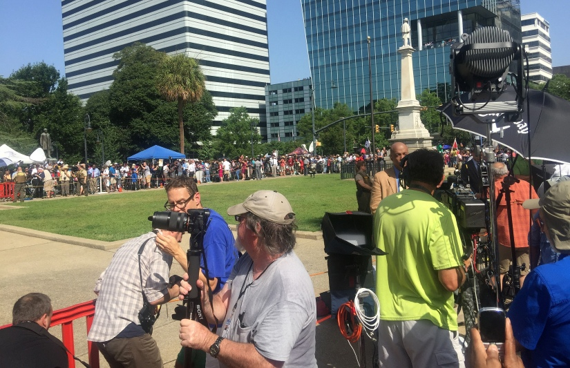 Photography ~ Jubilant attendees following the removal of the Confederate Flag from the South Carolina State House Grounds,07/10