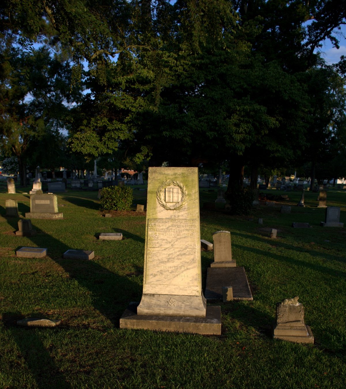 Photography ~ Notable Blacks Interred at Brookside Cemetery ~ Bishop J.W. Hood, 08/09
