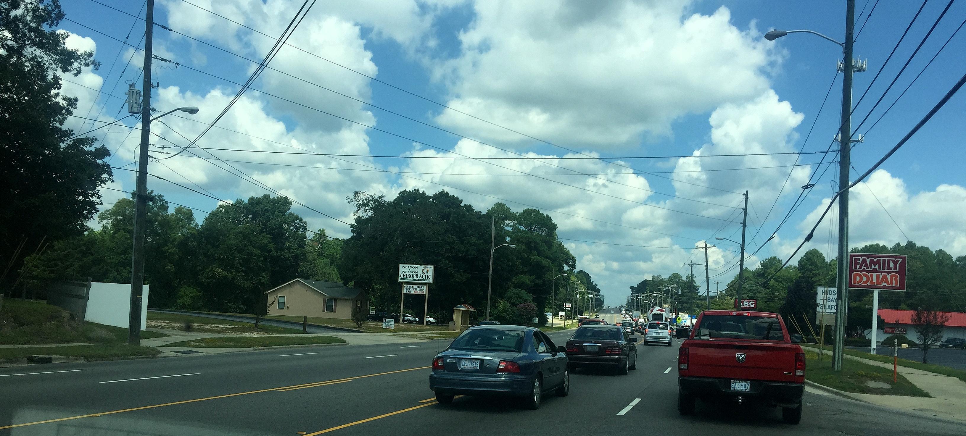 Impediments ~ Traffic enroute to my auto repair shop, 09/01