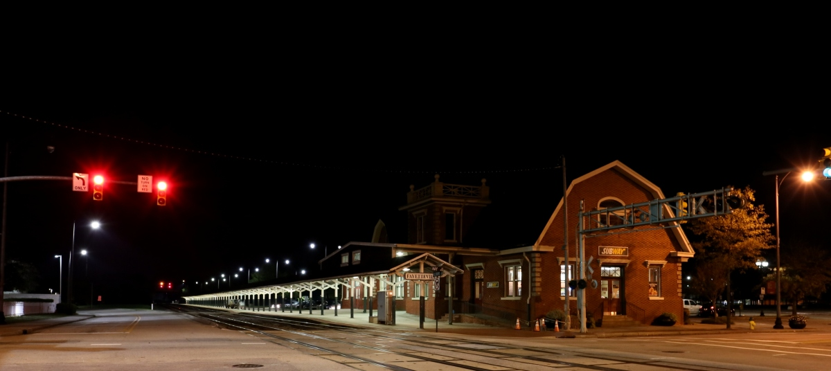 Architecture ~ Fayetteville, North Carolina Amtrak Station at night, Circa 1911, 11/12