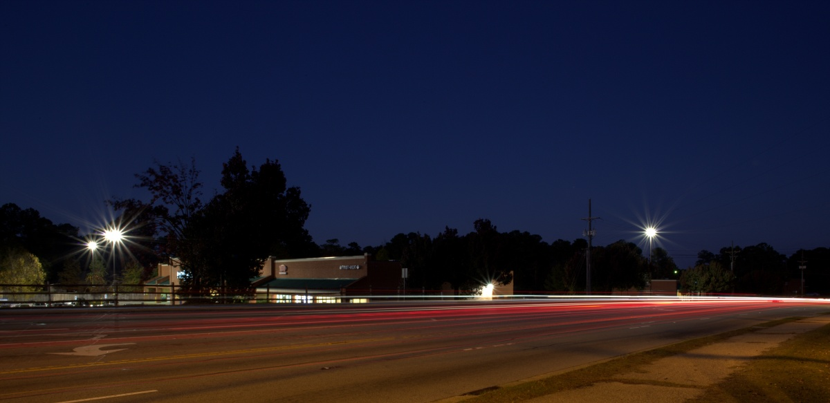 Photography ~ Evening–Light Trails, Fayetteville, North Carolina [Country Club Drive], 11/22