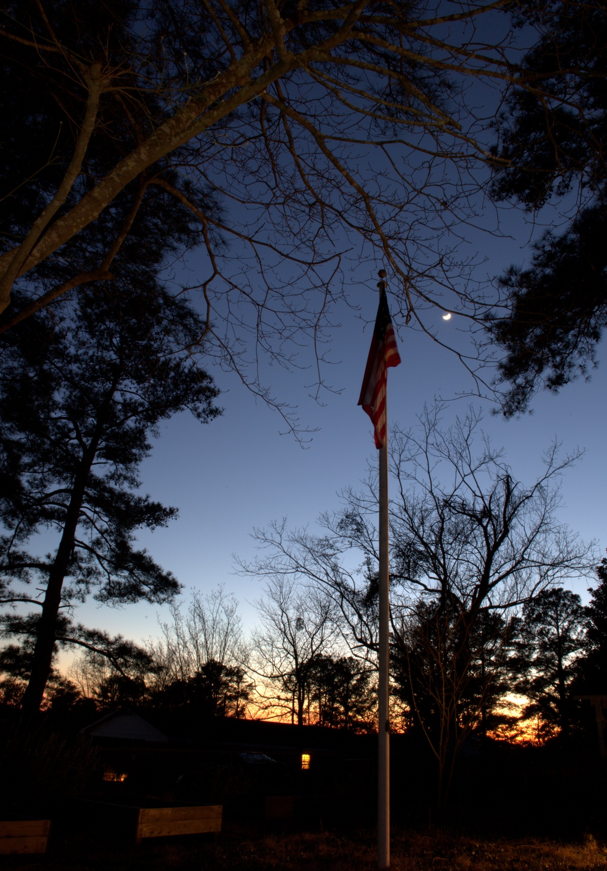 Photography ~ Evening, with the moon in the sky,02/11