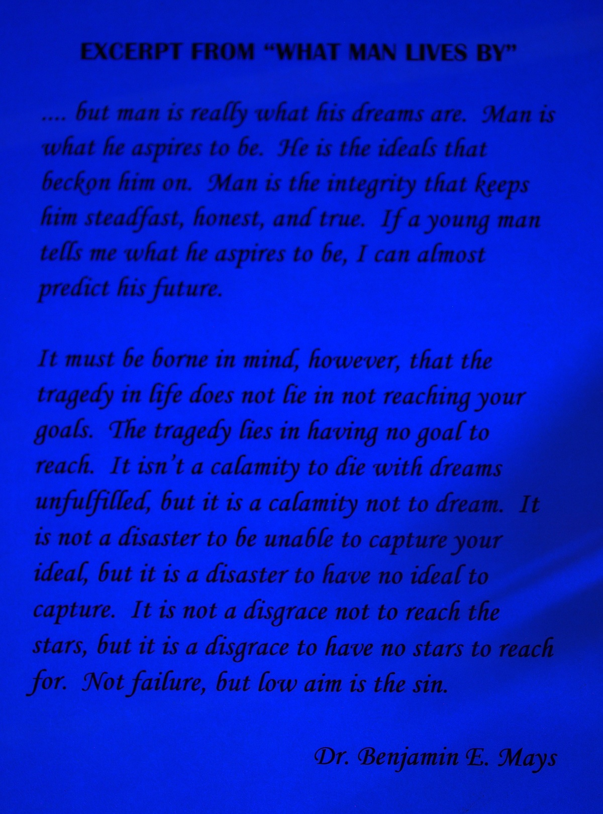 Photography ~ B&W Room–Under Black Light [words to live by],02/25