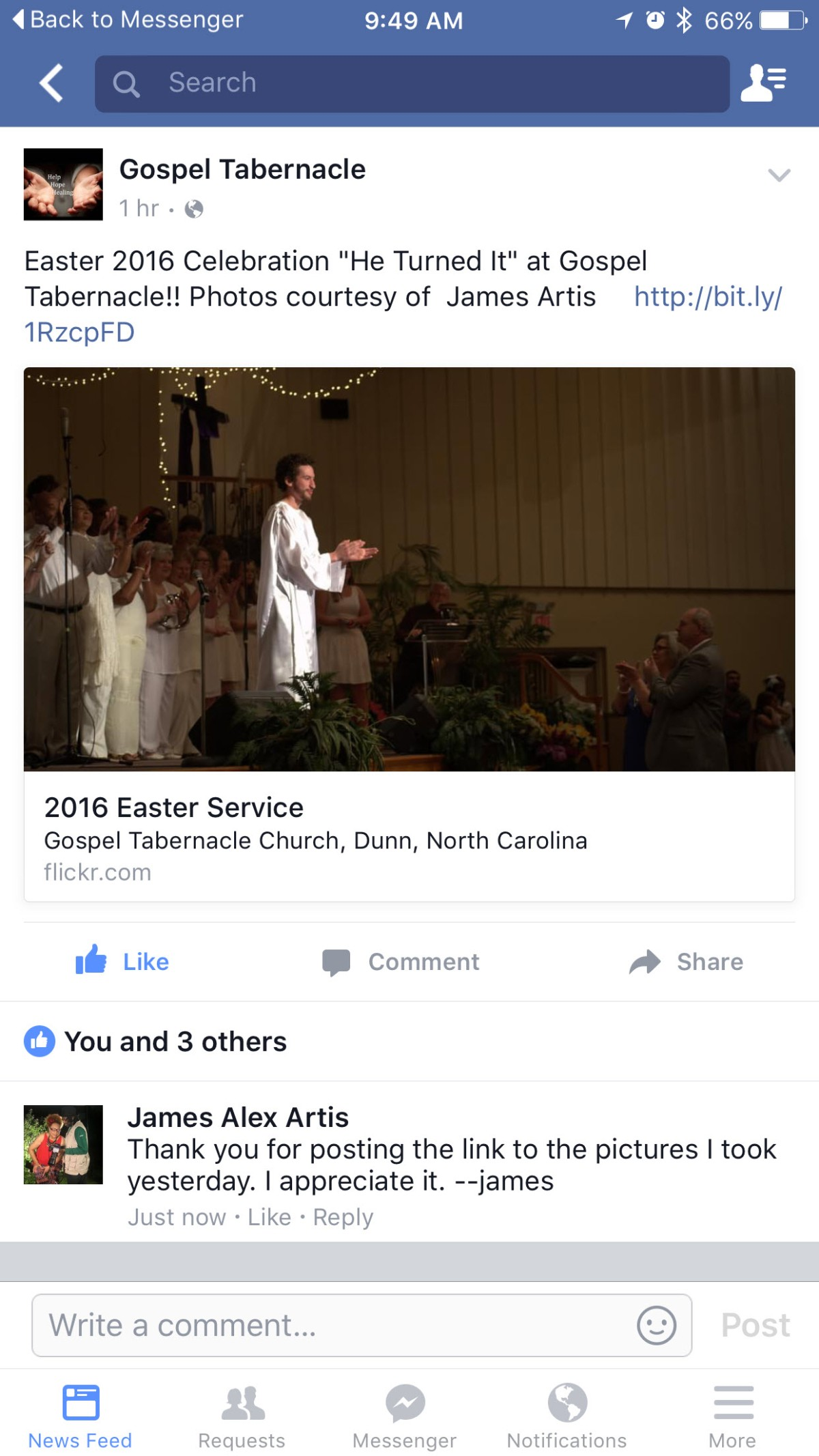 Photography ~ Worship Service–Easter Sunday [Flickr Stats @ 10:10 am EDT], 03/27