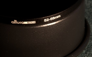 Altura 52-58MM Step-Up Adapter Ring mounted on the Snoot