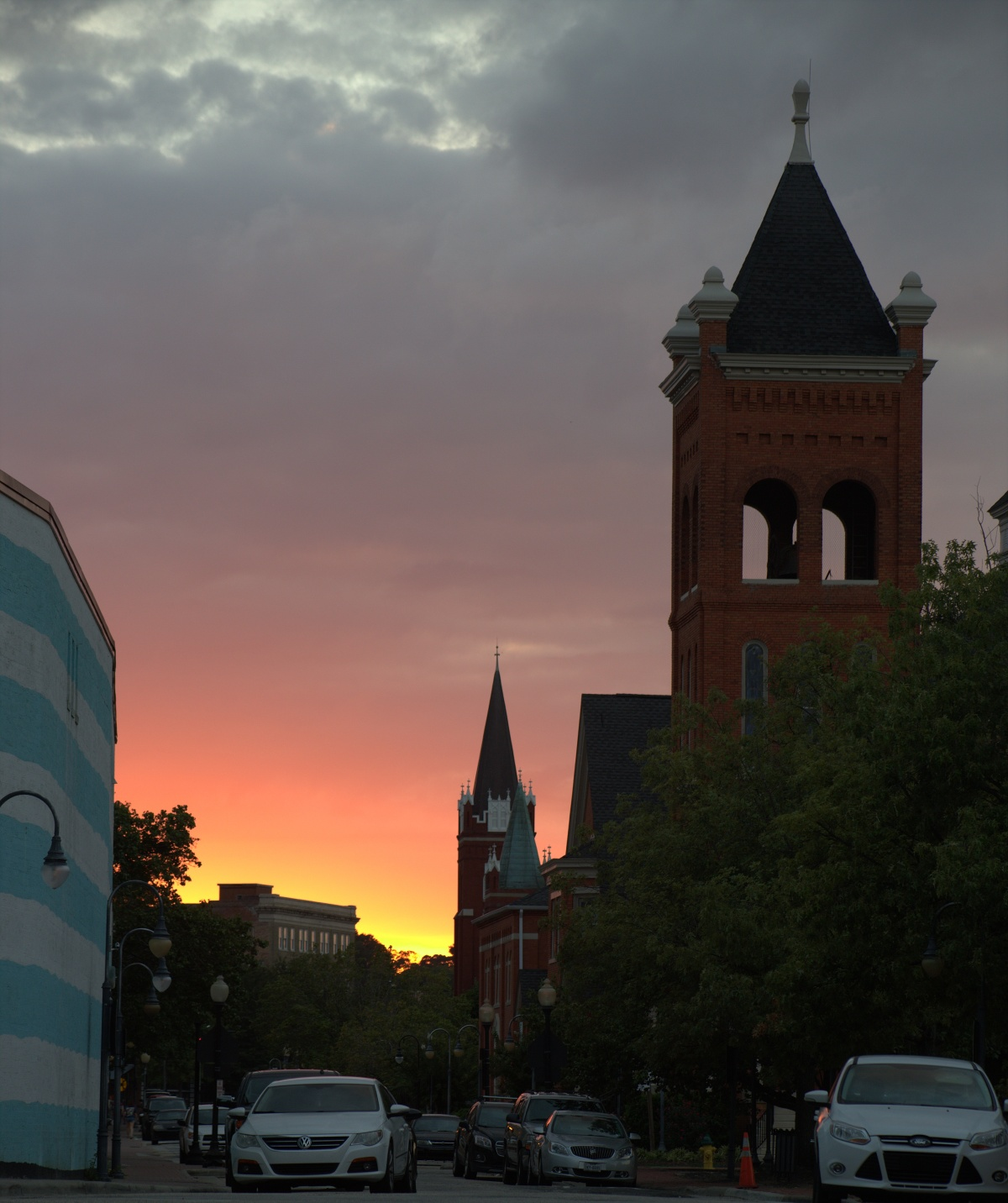 Photography ~ Sunset Silhouettes–Downtown Fayetteville, North Carolina, September 2016