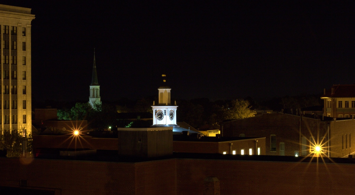 Photography ~ From the 5th Level of the Fayetteville North Carolina Parking Deck–Moonrise [Slideshow], 09/18