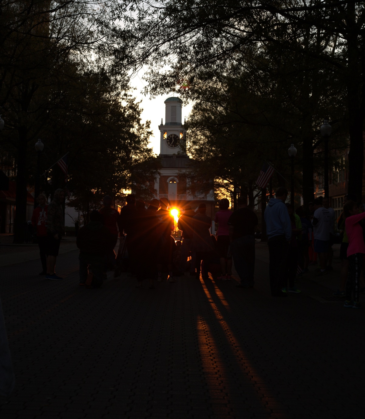 Photography ~ The Fayetteville Market House, Veterans Day Sunrise–11/11/16