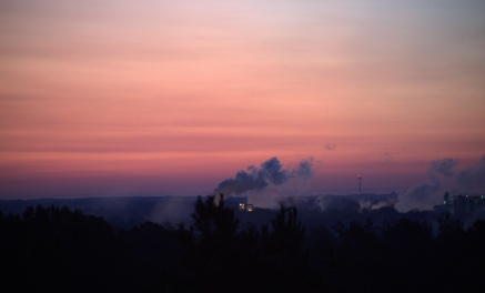 25 minutes before sunrise @ 6:48--Cargill Plant in the distance