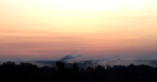 11 minutes before sunrise @ 6:48--Cargill Plant in the distance--a bit breezy over there