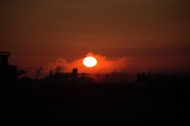 Sunrise + 7 minutes--see all the sun