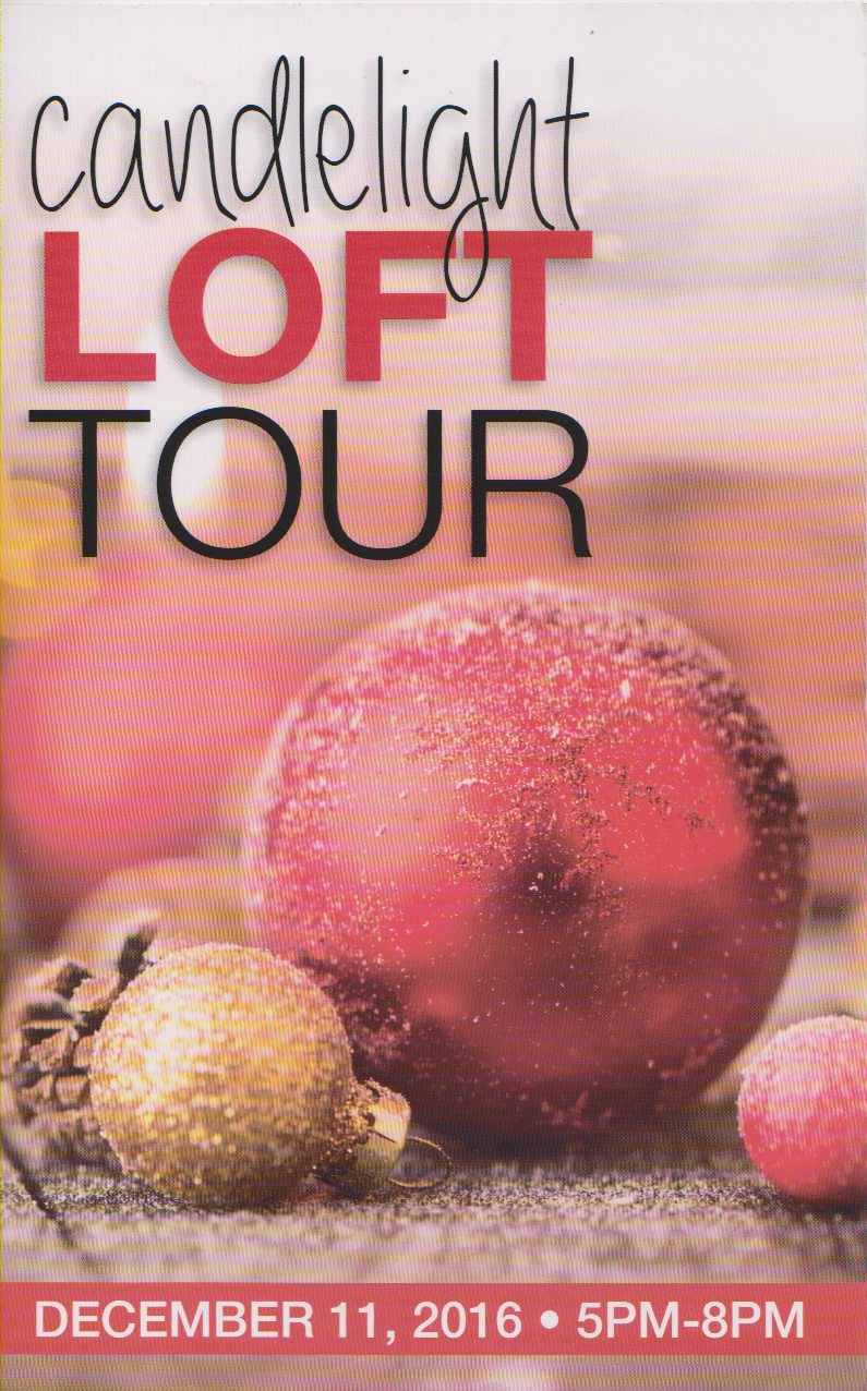 Event ~ Candlelight Loft Tour, Fayetteville, North Carolina–Tour Guide, 12/11