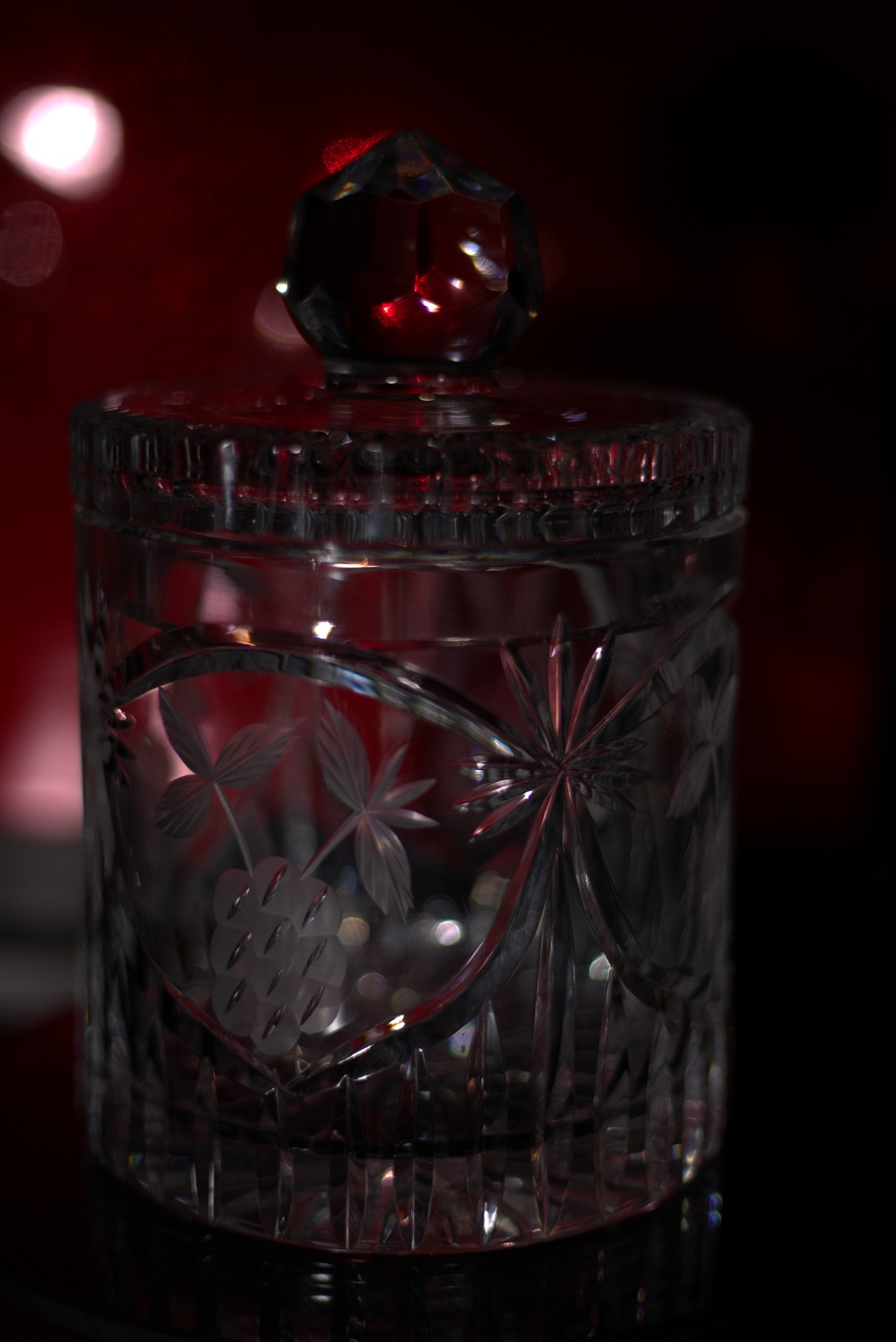 Photography ~ Photographer's Table–background lighting [diffuser & red gel], 02/11