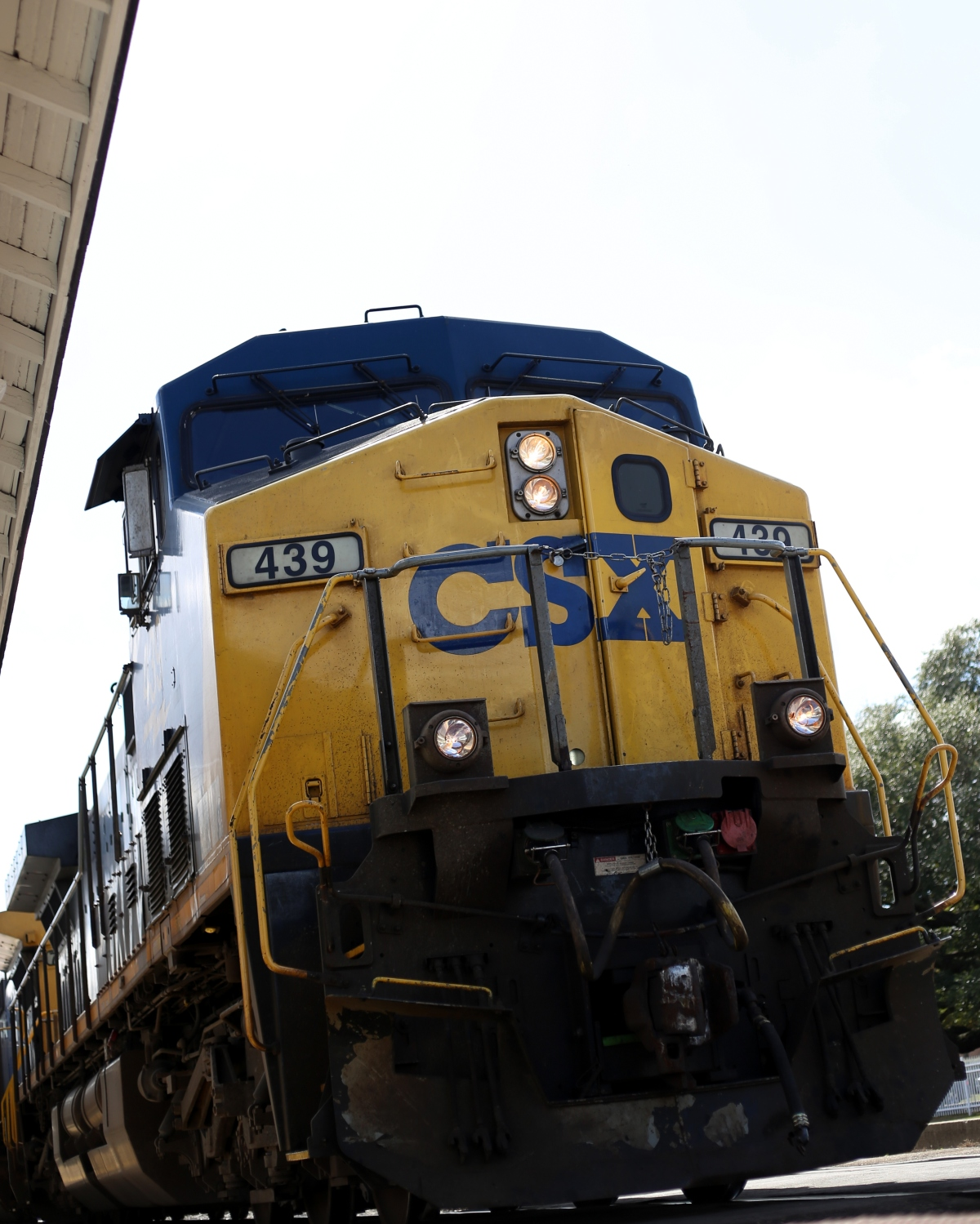 Photography ~Outside for a bit–CSX Train passes the Fayetteville, North Carolina Amtrak Station, 02/24
