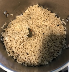 Brown rice, with a few spices