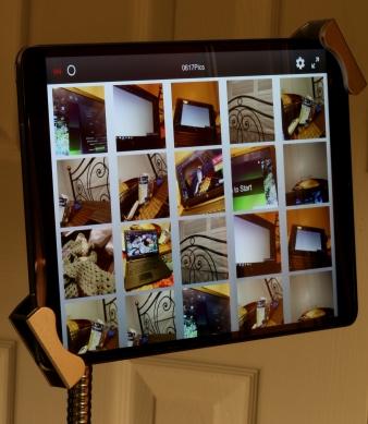 iPad Pro 10.5 on a security pole