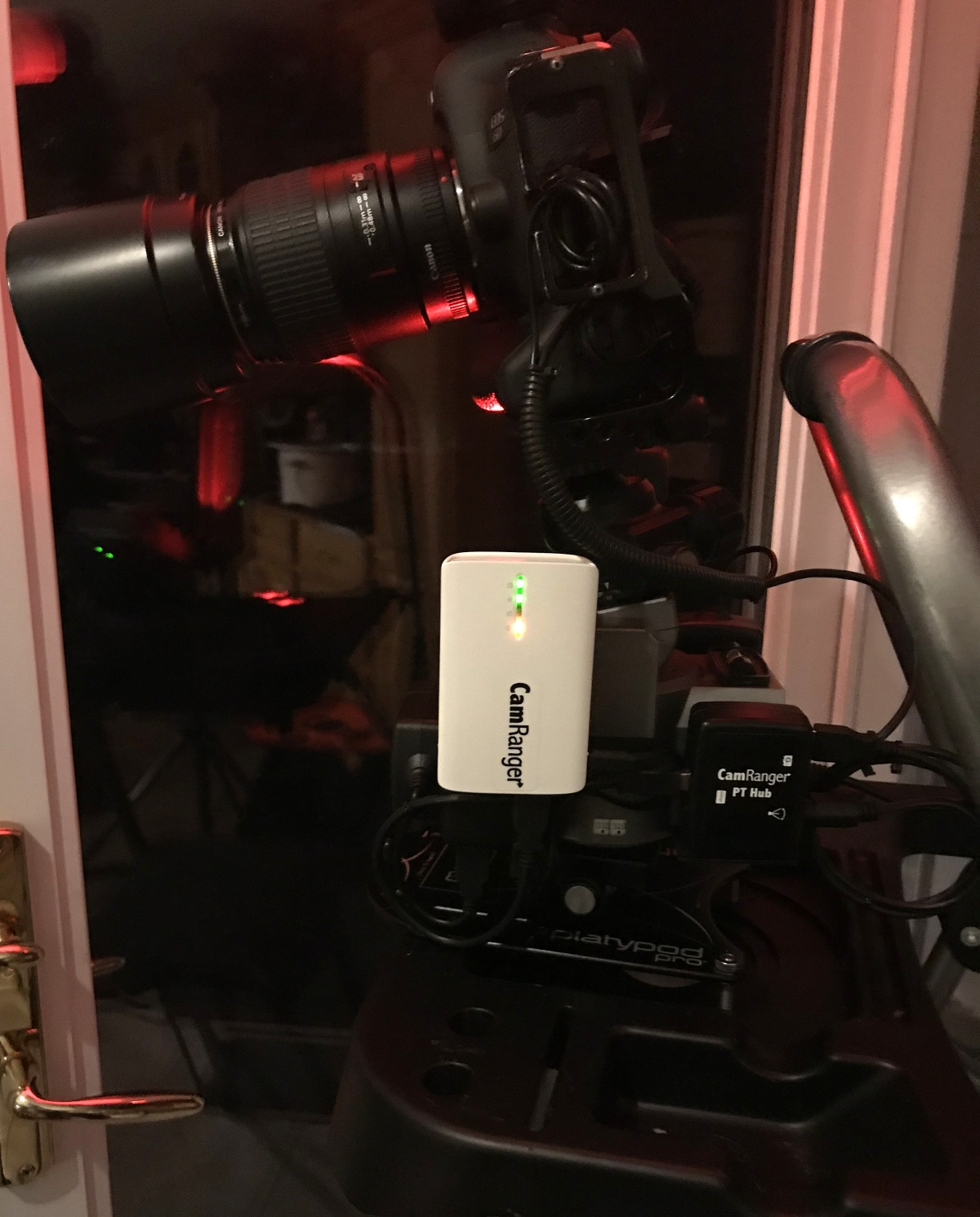 DIY [Camera Gear/Kit] ~ Camera Stand for CamRanger, PT Hub, & MP-360 Pan/Tilt Head on a Platypod Pro Max,09/18
