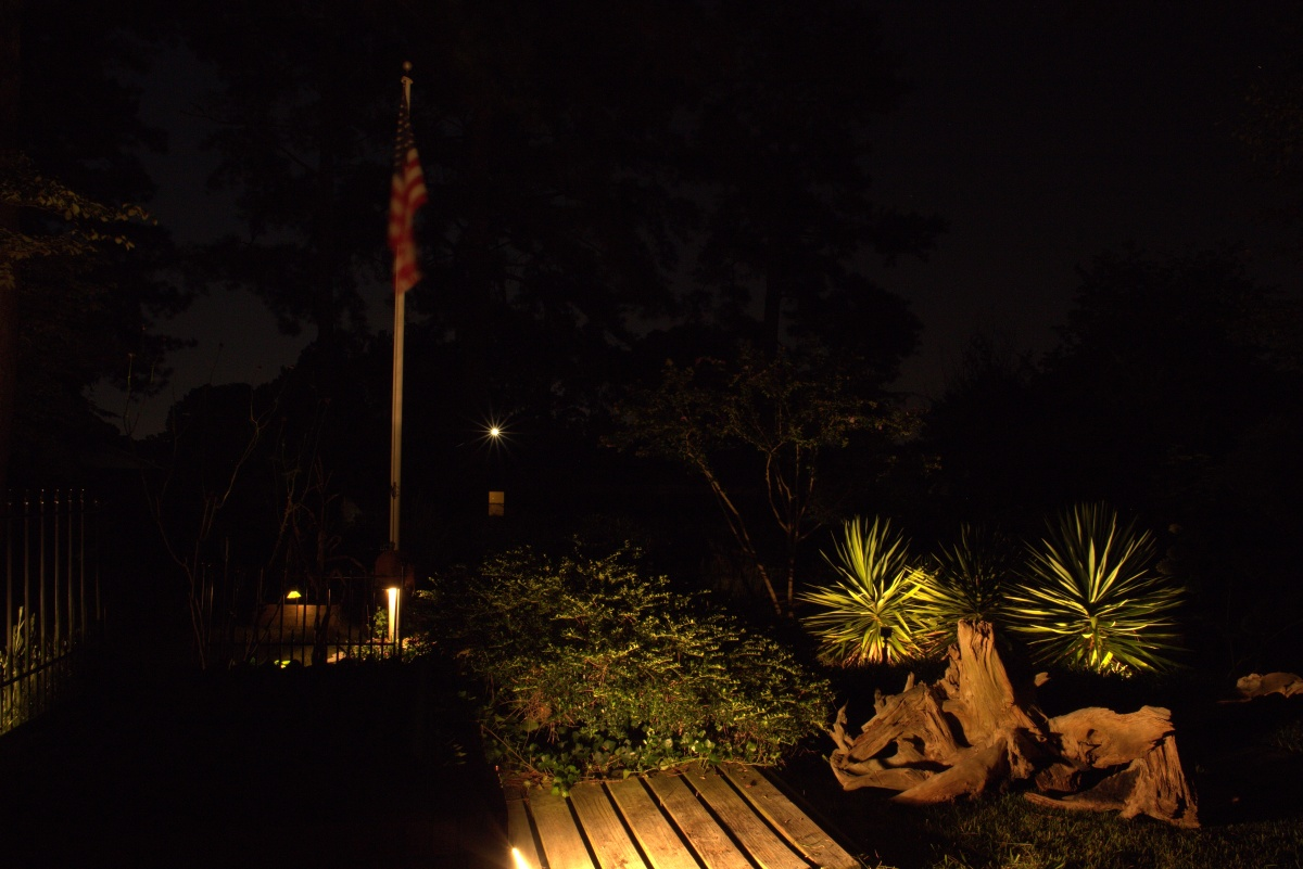 Landscaping ~ Backyard, Cedar Gardens–Lighting, 09/04