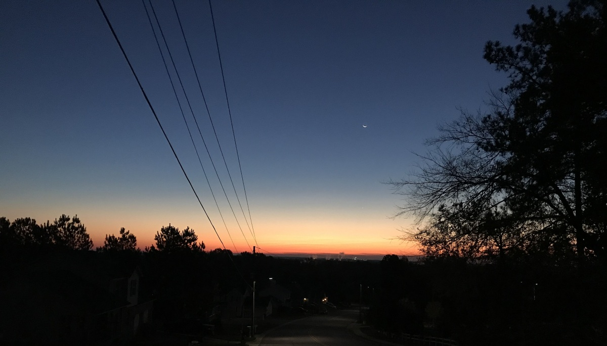 Photography ~ At the end of Nautical Twilight, Fayetteville, North Carolina–11/16