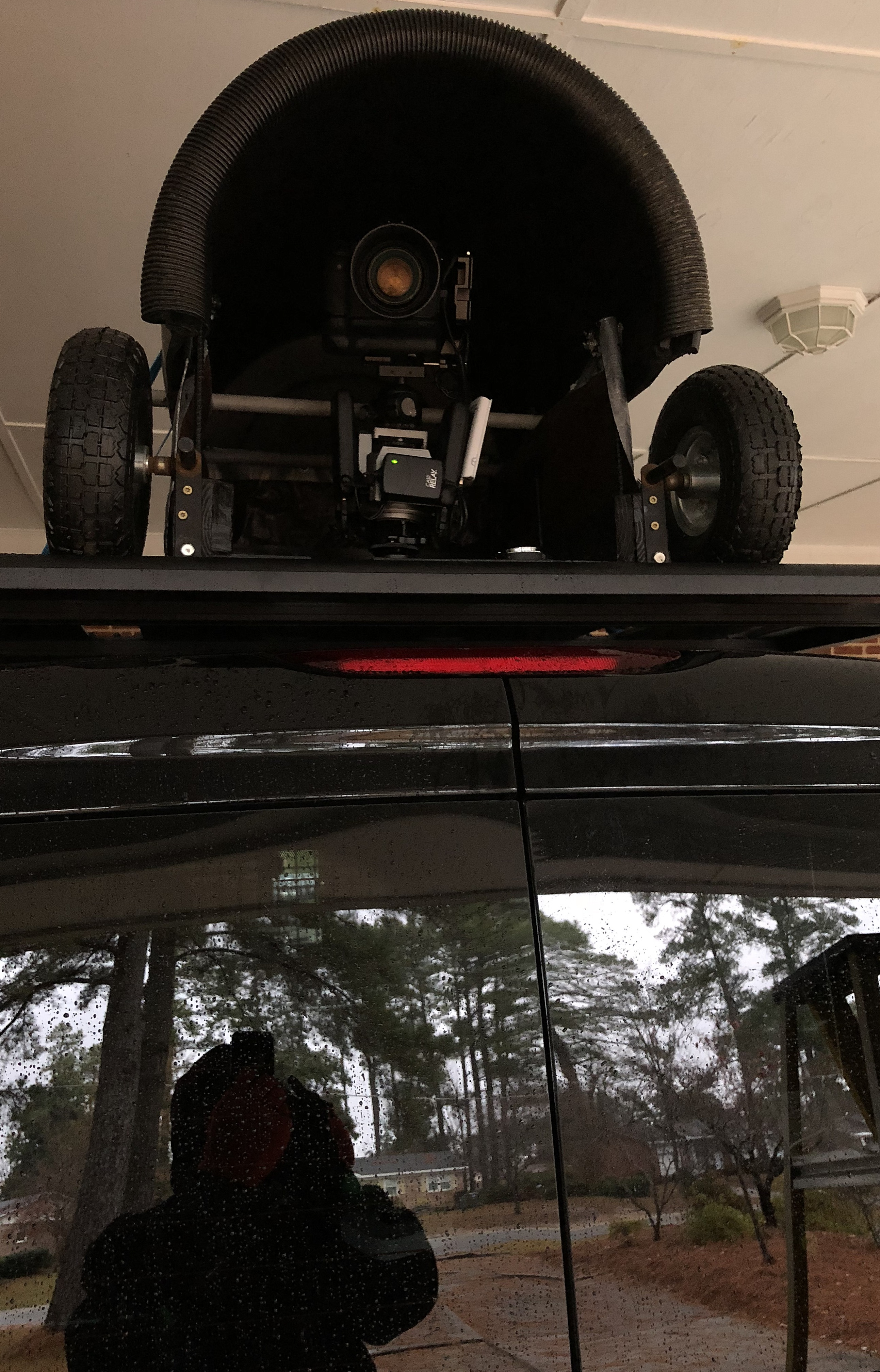 DIY [#31] ~ Rain Cover–CamRanger System–now atop the van, 12/08