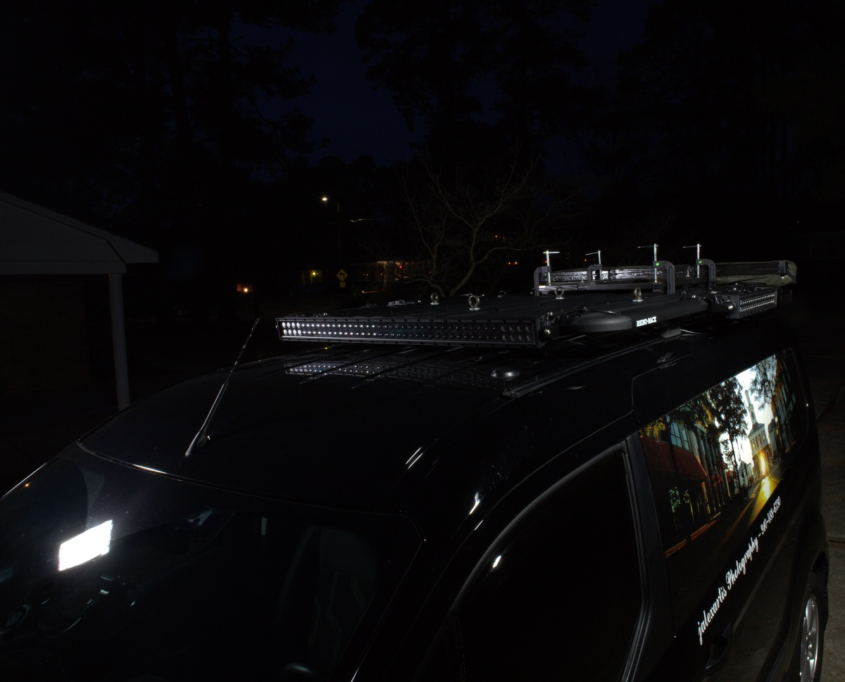 DIY [#37]–Rhino-Rack Pioneer Platform with LED Light Bars & SunSeeker Dome Awning, 12/25