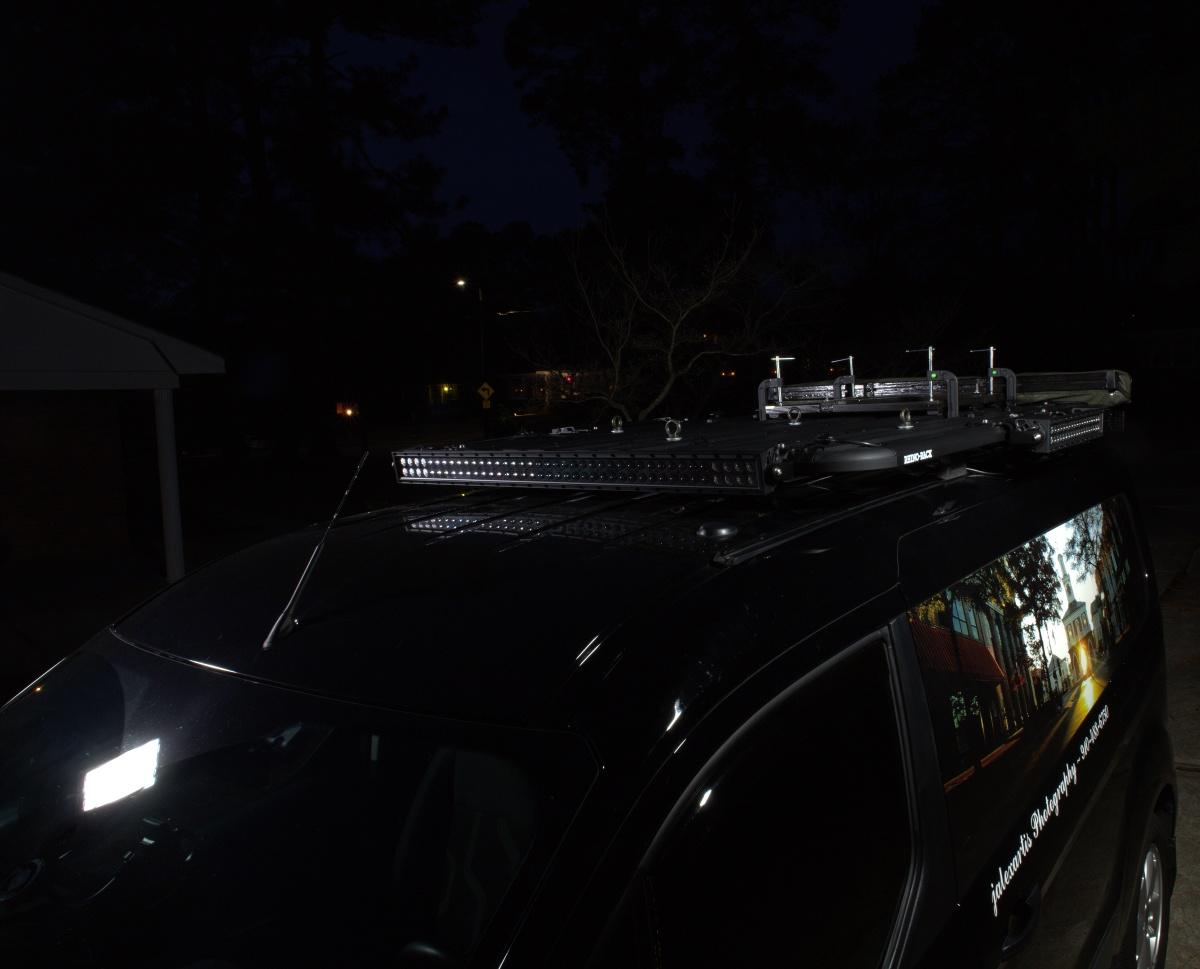 DIY [#37]–Rhino-Rack Pioneer Platform with LED Light Bars & SunSeeker Dome Awning,12/25