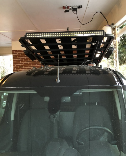 The Dome Awning maks the rear too heave for a balanced lift
