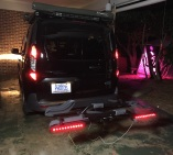 Bike carrier with lighting [running, brake, and turn signal]--The carrier is in the carry position