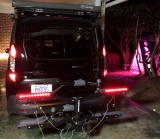 Bike carrier with lighting [running, brake, and turn signal]--The carrier is in the stowed position