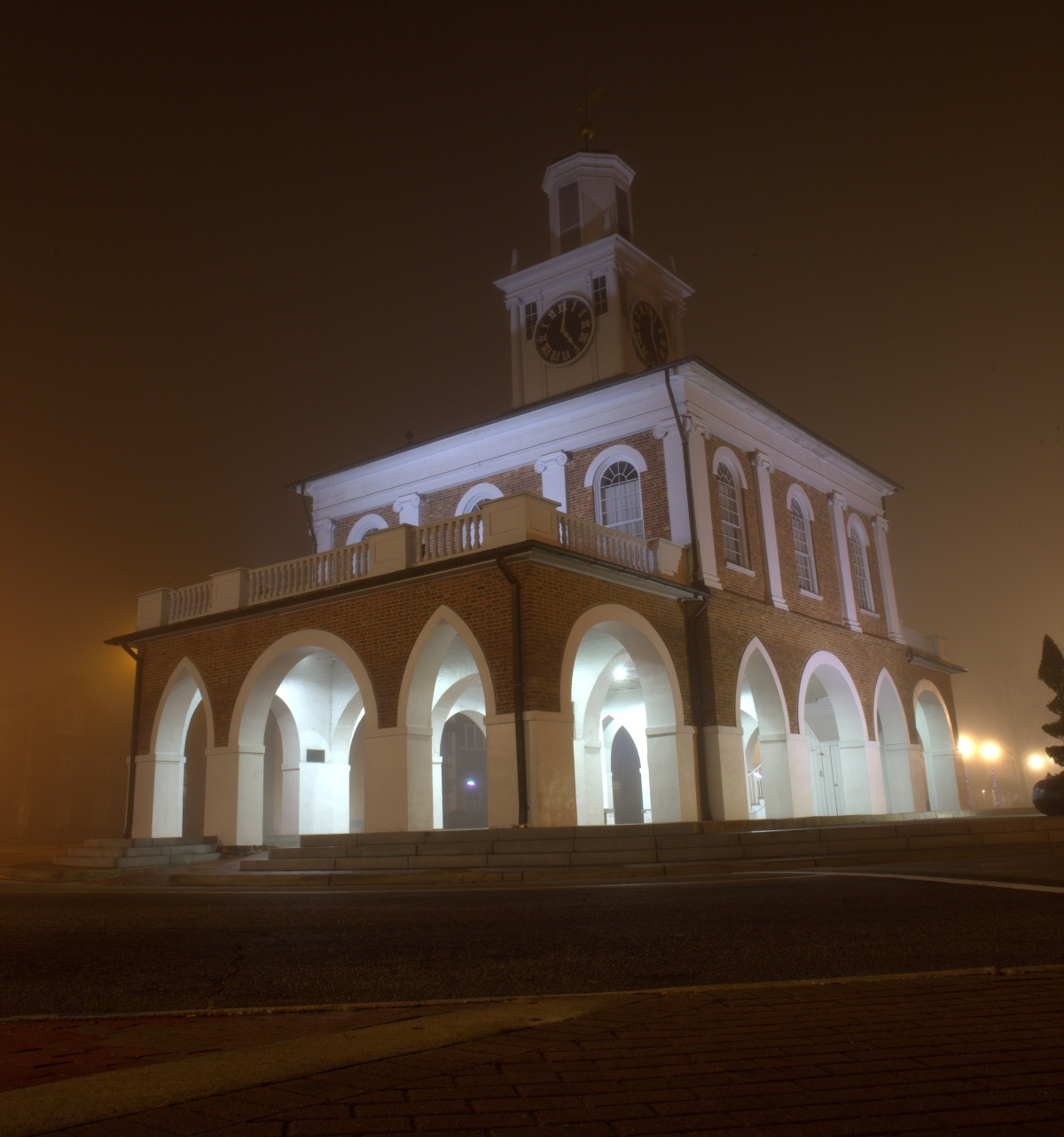 Photography ~ Foggy Morning in the 'ville–Market House & Market Square, 02/20