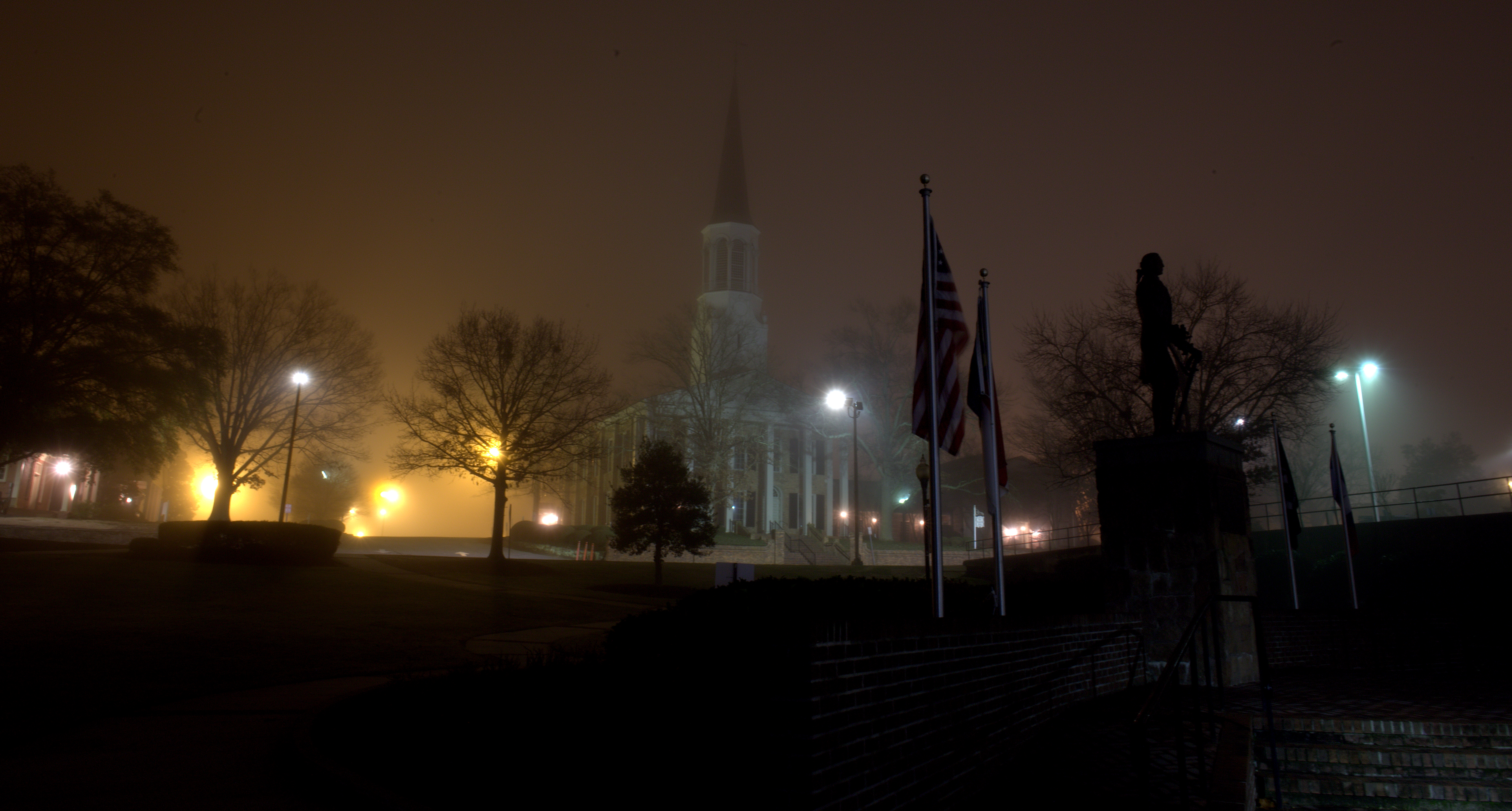 Photography ~ Foggy Morning in the 'ville–First Presbyterian Church, 02/20