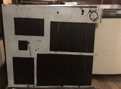 Original wall becomes a template--cutout the black boxes