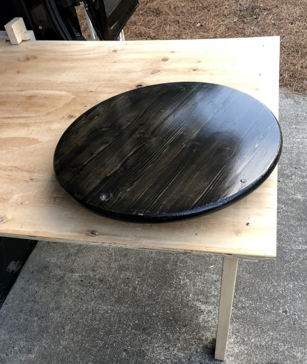 Added a Lazy Susan for the cooktop stand