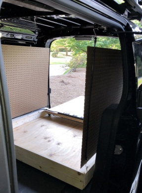 from the drive side cargo area access door
