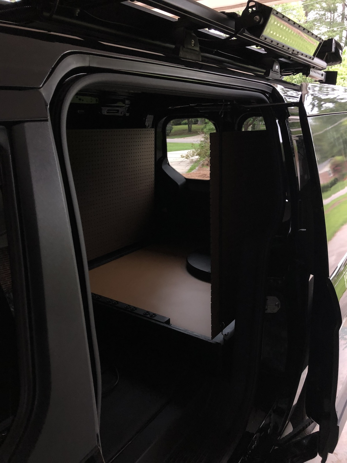DIY ~ Ford Transit Connect XLT Van [rollout kitchen finishings–the tray], 06/27