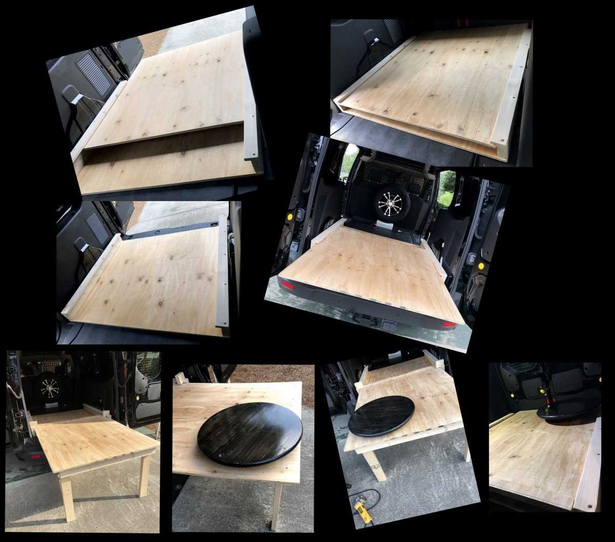 DIY ~ Ford Transit Connect XLT Van [rollout kitchen] versus Micro-Lite Cargo-Go Lite Xtreme Trailer Cooktop & Sink, 06/21