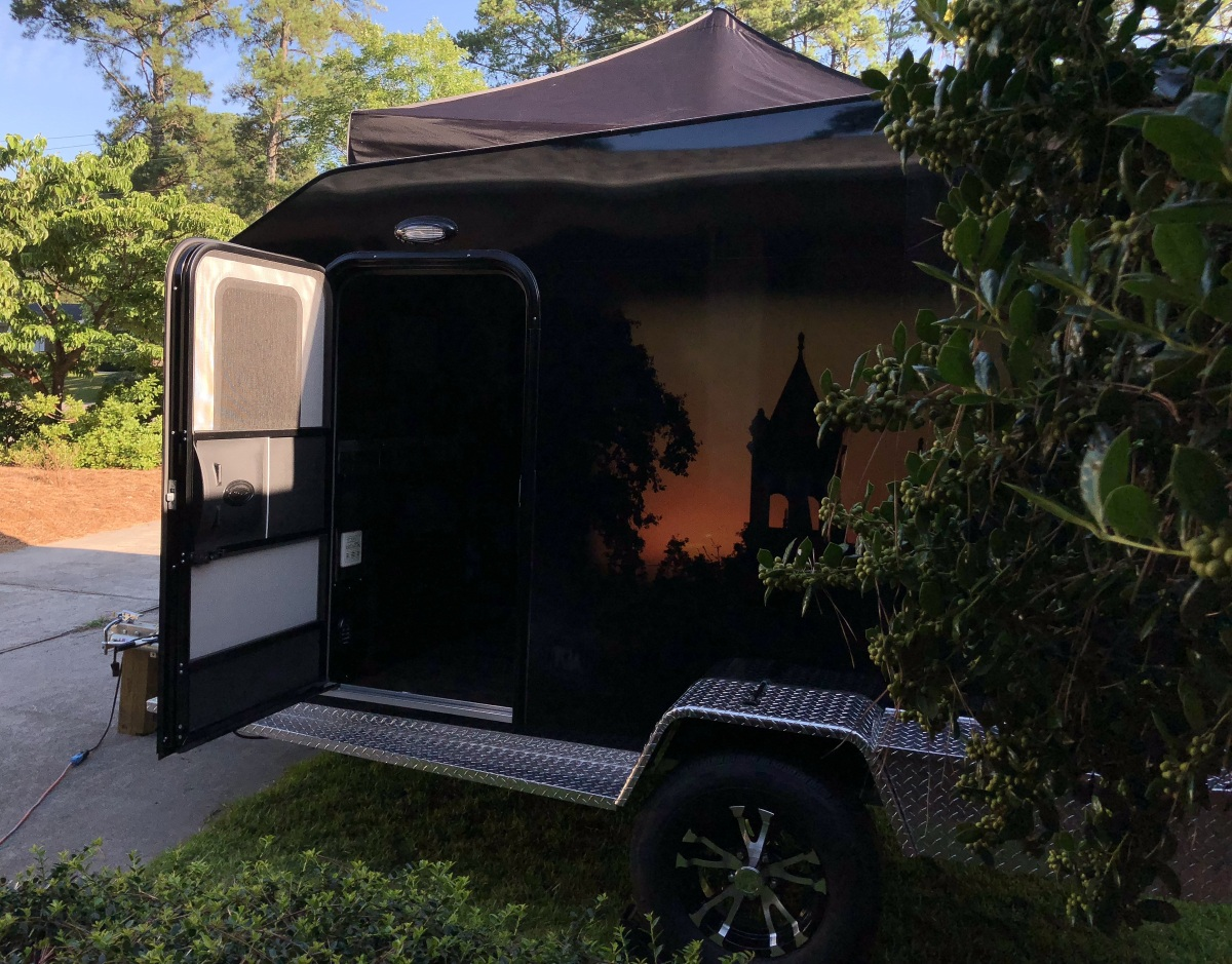 DIY ~ Micro-Lite Cargo-Go Lite Xtreme Trailer [for camping–taller privacy configuration], 07/05