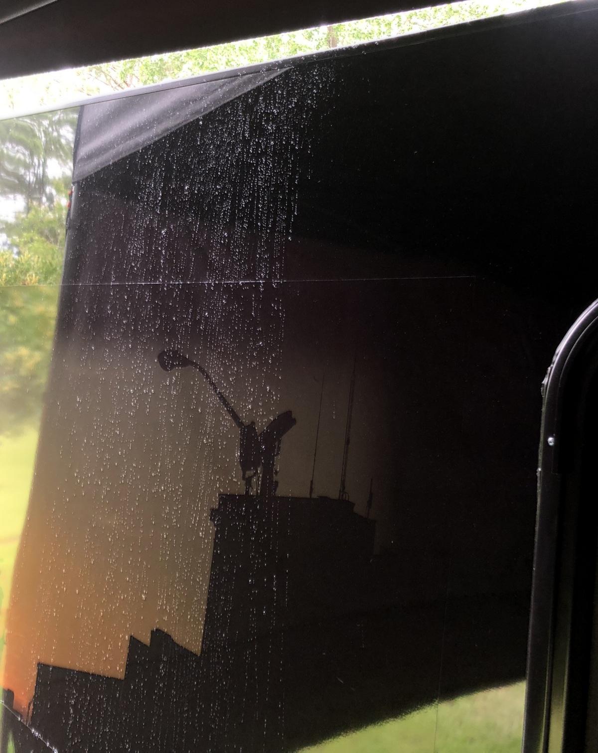 DIY ~ Micro-Lite Cargo-Go Lite Xtreme Trailer [canopy–corner privacy configuration rain test],07/05